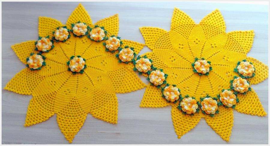 Camino de mesa elegante en crochet paso a paso - Camino de mesa elegante en crochet ...