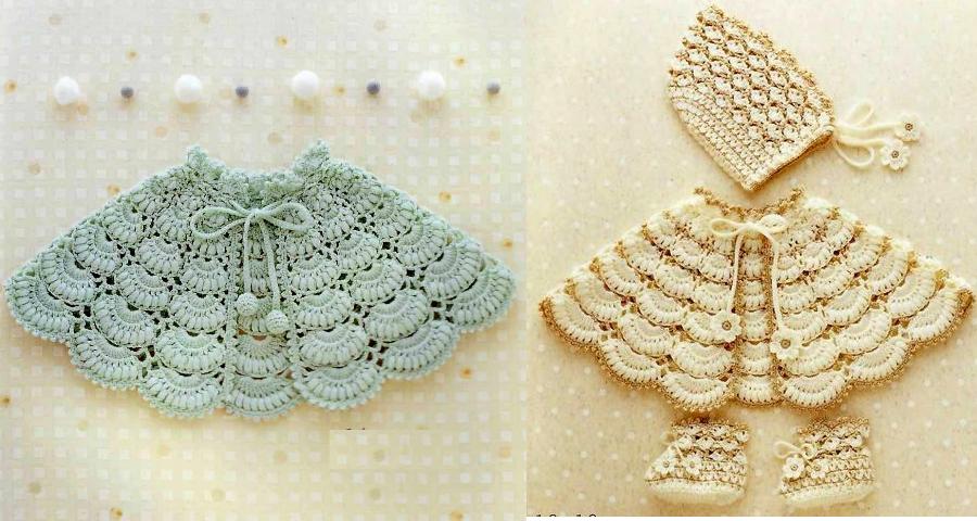 Capita tejida a crochet para bebé - Patrones - Manualidades Y ...