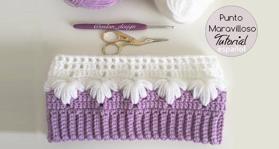 Punto Maravilloso a Crochet - Tutorial - Manualidades Y ...