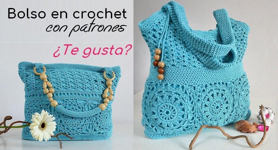 Belo bolso a crochet con patrones Manualidades Y DIYManualidades Y DIY