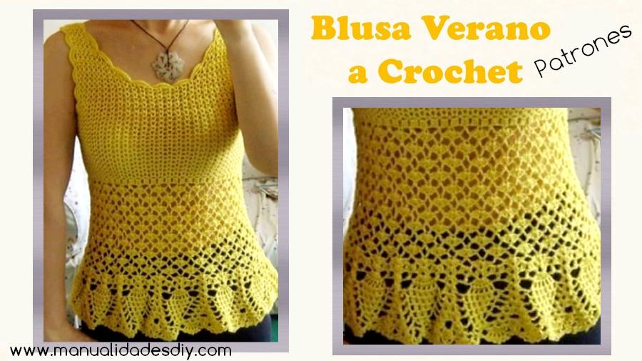 Blusa con piñas tejida a crochet ⋆ Manualidades Y DIYManualidades Y DIY