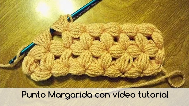 punto margarita crochet