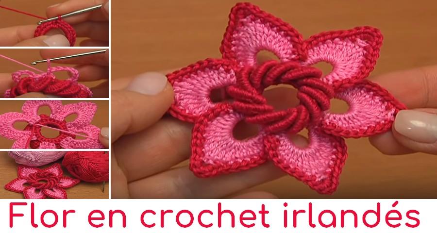 Flor En Crochet Irlandés Manualidades Y Diymanualidades Y Diy