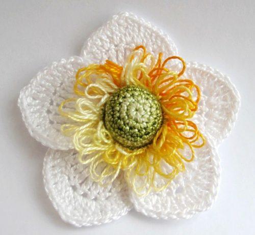 Preciosa flor a crochet paso a paso manualidades y - Manualidades a crochet paso a paso ...