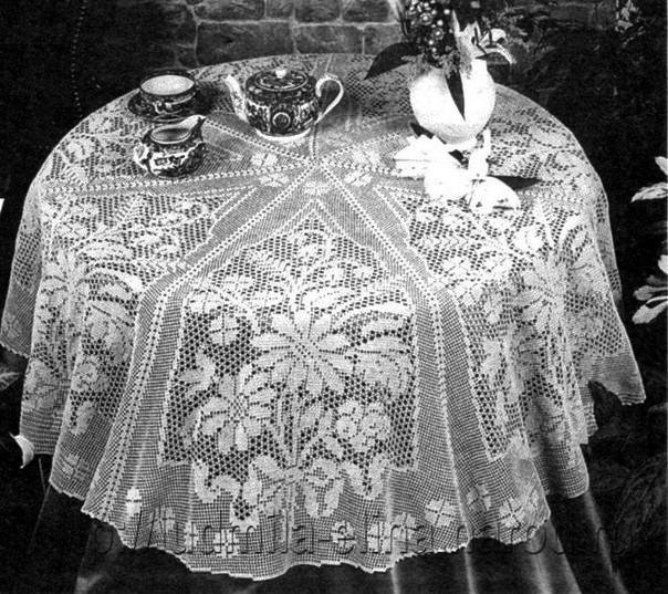 18 Manteles a Crochet - Patrones Gratis ⋆ Manualidades Y ...