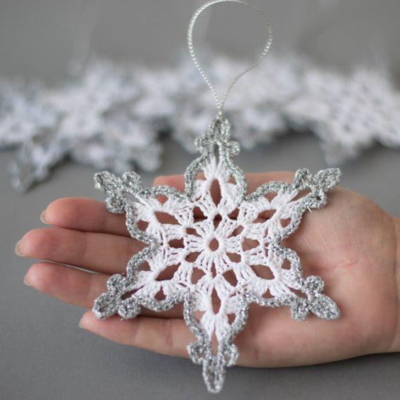 La Mejor Colección de Copos de Nieve en Crochet - Manualidades Y ...