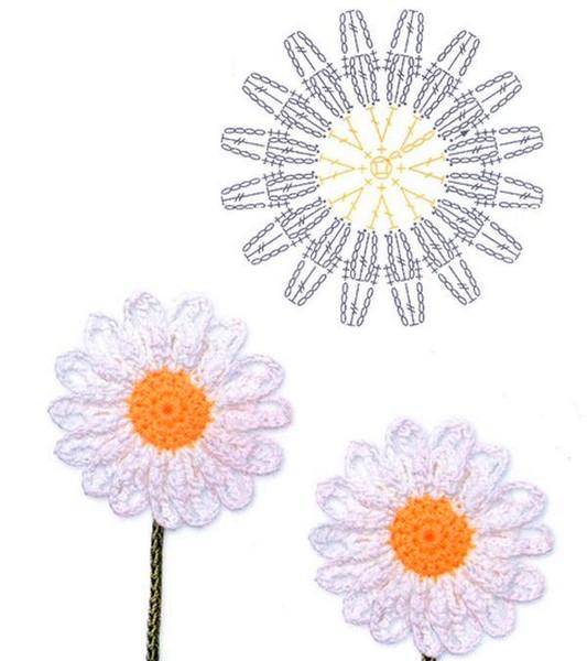 Como Hacer 24 Flores a Crochet Muy faciles!! ⋆ Manualidades Y ...