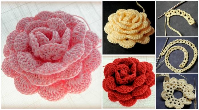 Como Hacer 24 Flores a Crochet Muy faciles Manualidades Y