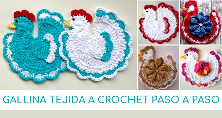 Gallina tejida a crochet paso a paso manualidades y - Manualidades a crochet paso a paso ...