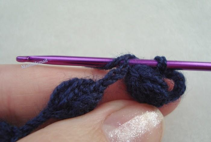 Precioso punto a crochet paso a paso manualidades y - Manualidades a crochet paso a paso ...
