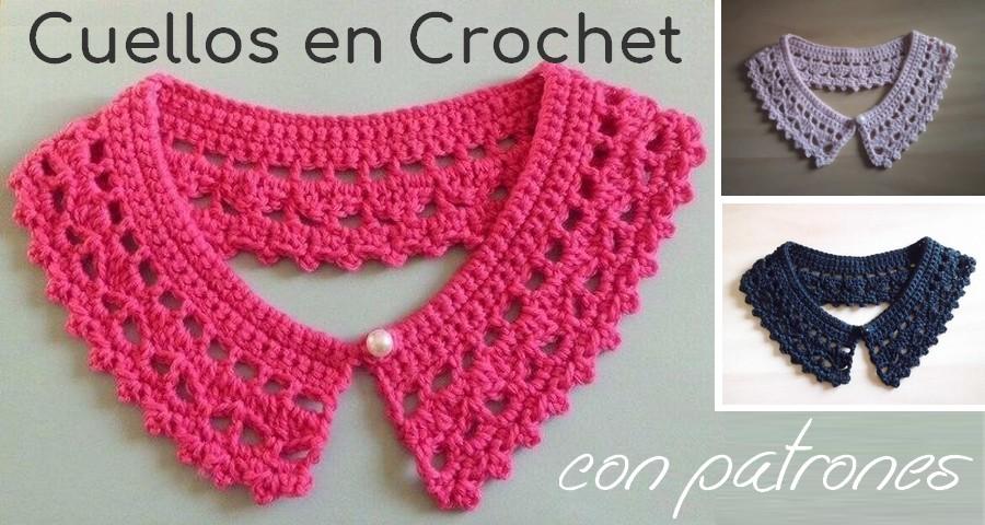 Hermosos cuellos en crochet con patrones - Manualidades Y ...