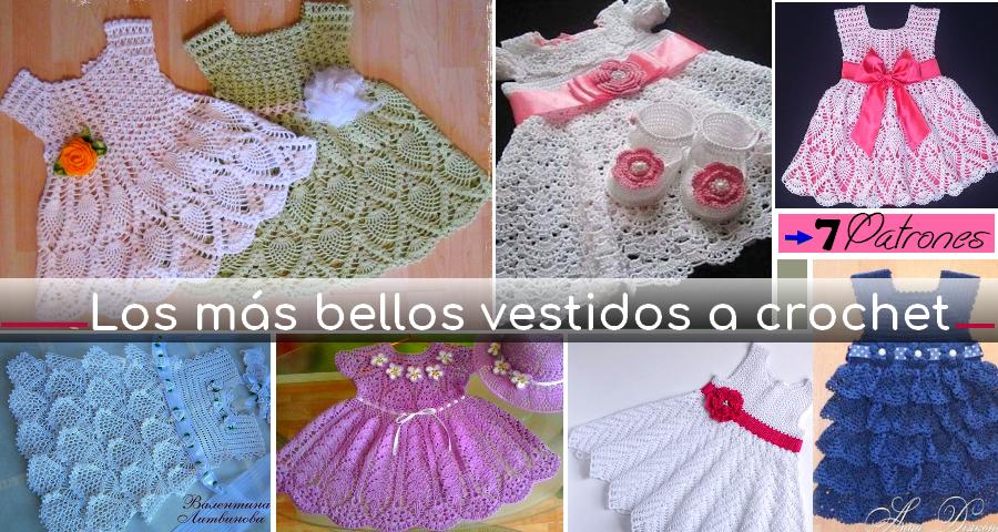 Los más Bellos Vestidos a Crochet para Niña - Patrones ...