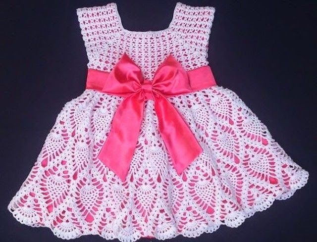 Famoso Los Patrones De Crochet Vestidos De Niña Festooning - Ideas ...