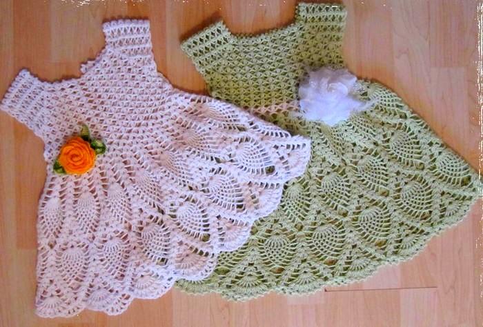 Los Más Bellos Vestidos A Crochet Para Niña Patrones