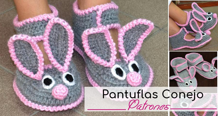 Hermosas Pantuflas de Conejo a Crochet - Manualidades Y ...