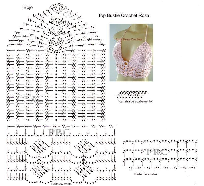18 Tops Tejidos a Crochet con Patrones ⋆ Manualidades Y ...
