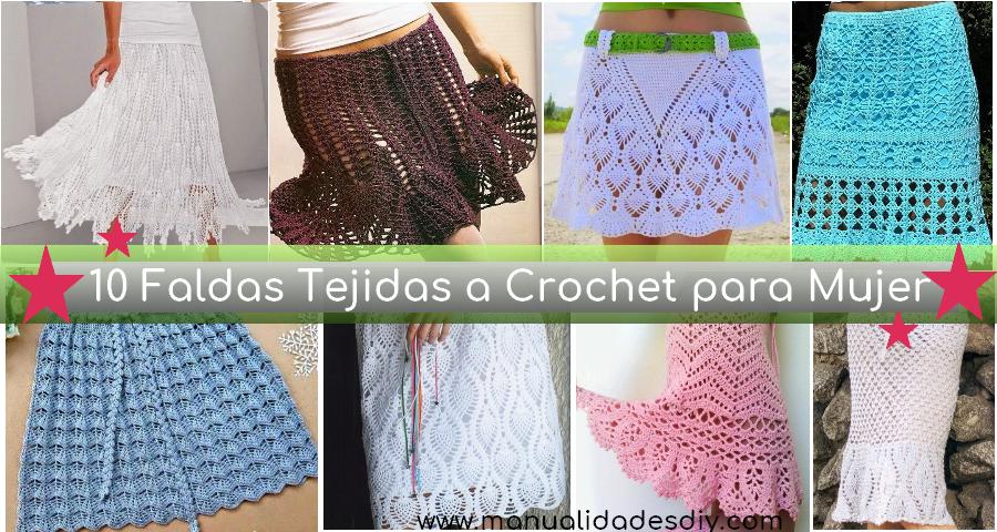 f27c3bd2c 10 Faldas Tejidas a Crochet para Mujer ⋆ Manualidades Y ...