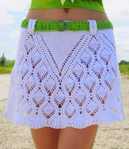 275e95fff 10 Faldas Tejidas a Crochet para Mujer ⋆ Manualidades Y ...