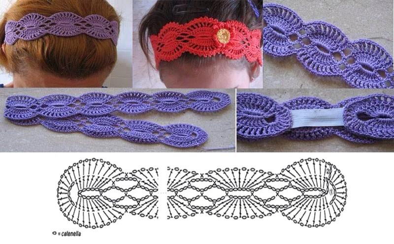 Adorables Diademas Tejidas a Crochet - Manualidades Y ...