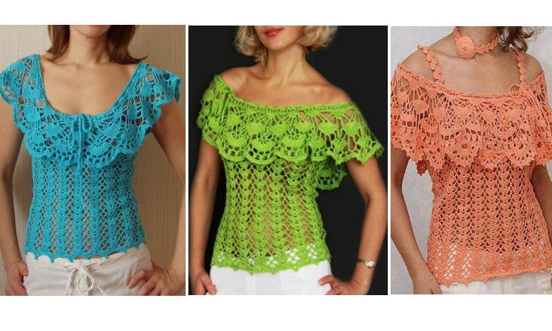 Blusa Calada A Crochet Con Patrones Manualidades Y