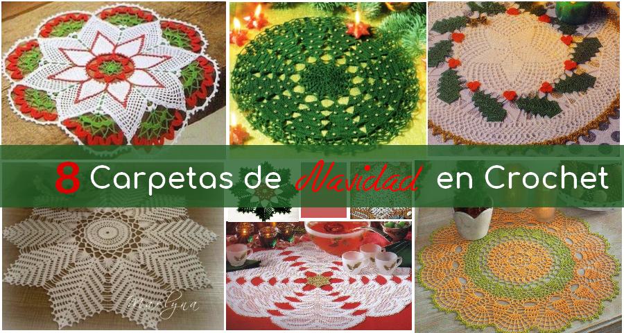 8 carpetas de navidad tejidas en crochet manualidades y for Decoracion del hogar en crochet