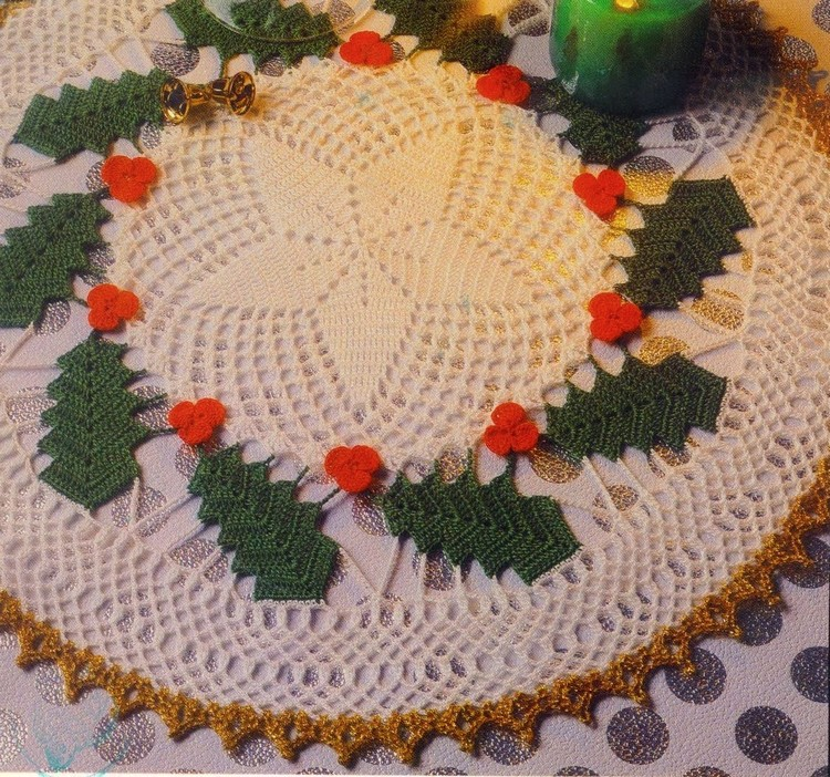 8 Carpetas de Navidad Tejidas en Crochet - Manualidades Y ...