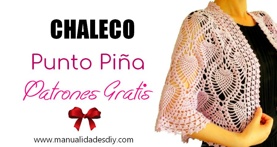 Chaleco Tejido a Crochet con Punto Piña ⋆ Manualidades Y ...