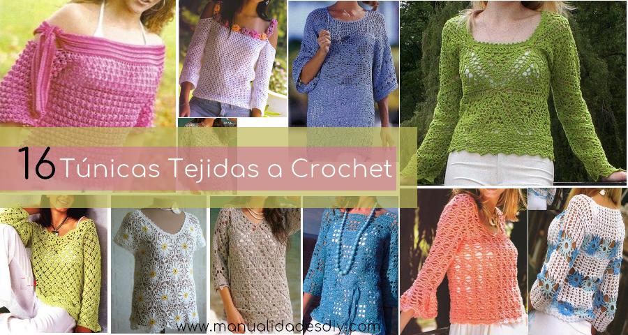 16 Patrones Gratis de Tunicas Tejidas a Crochet - Manualidades Y ...