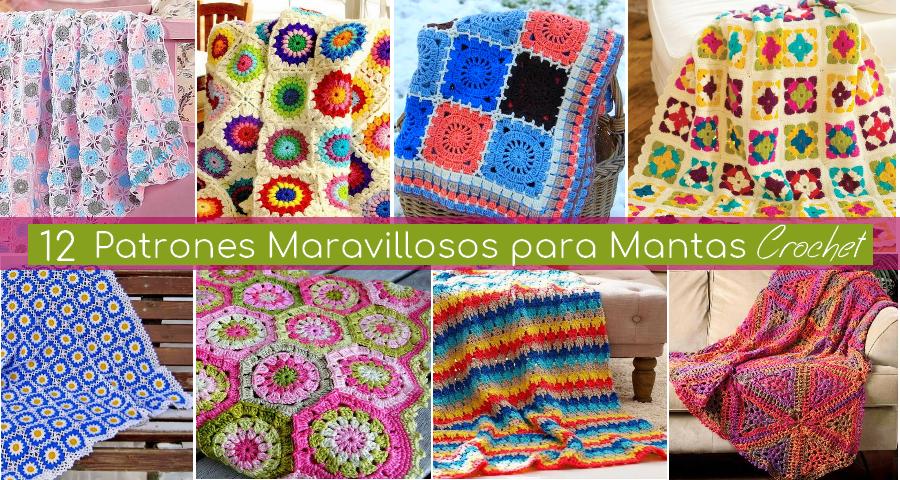 12 Patrones Maravillosos para Mantas a Crochet - Manualidades Y ...