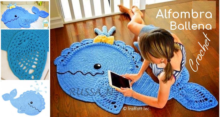 Patrones de Alfombra Ballena a Crochet ⋆ Manualidades Y ...