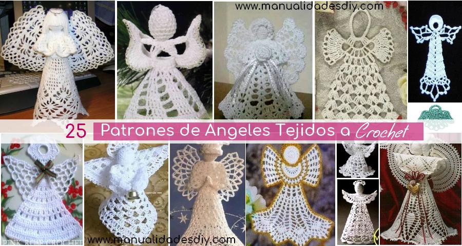 25 Patrones de Angeles Tejidos a Crochet - Manualidades Y ...