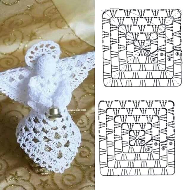 25 Patrones de Angeles Tejidos a Crochet ⋆ Manualidades Y ...