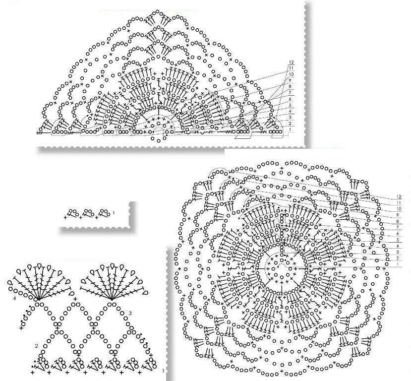 Patrones de Chal a Crochet con Rosas 3D ⋆ Manualidades Y ...