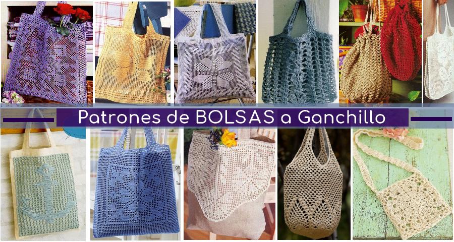 14 Bolsas para Compras Tejidas a Crochet - Manualidades Y ...