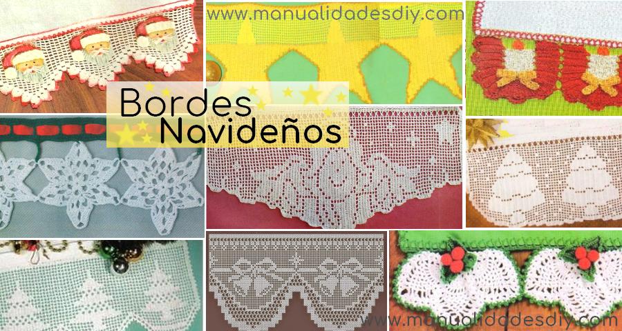 15 Patrones de Puntillas ~ Bordes Navideños - Manualidades Y ...