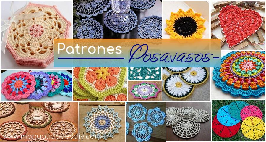 25 Delicados Posavasos Tejidos a Crochet con Patrones - Manualidades ...