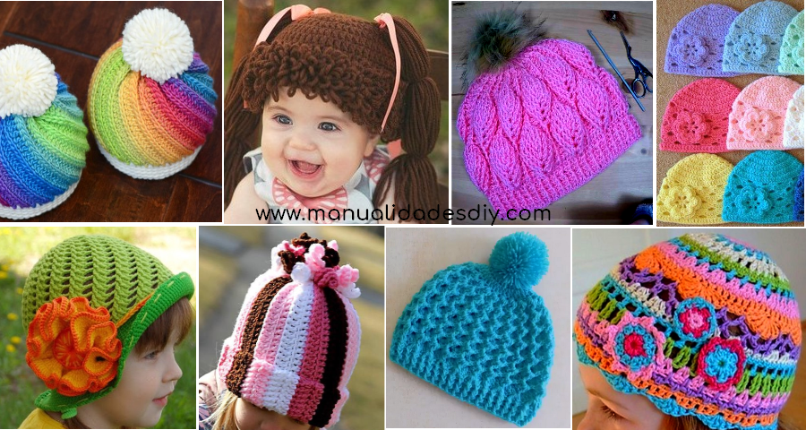 3d27990d08a90 8 Maravillosos Gorros a crochet para niños y bebés ⋆ Manualidades Y ...