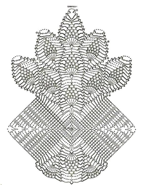 Centro de mesa com flores y piñas a crochet - Manualidades Y ...