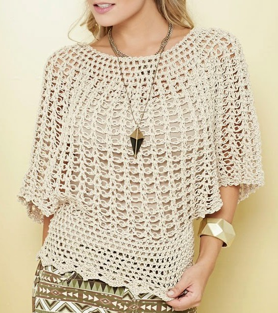 Fabulosas Blusas Tejidas A Crochet Con Patrones Manualidades Y