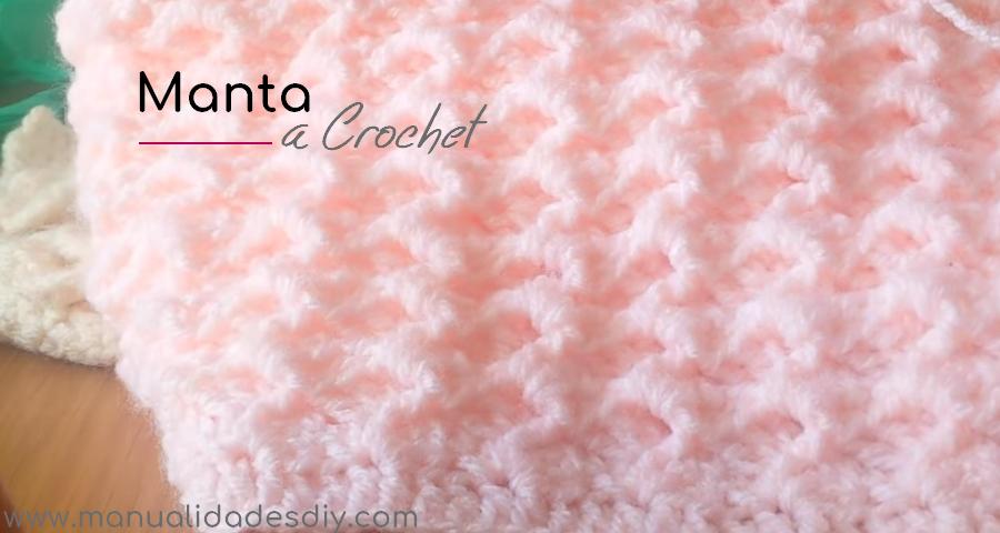 Punto hermoso y f cil para mantas en crochet - Manta de crochet facil ...