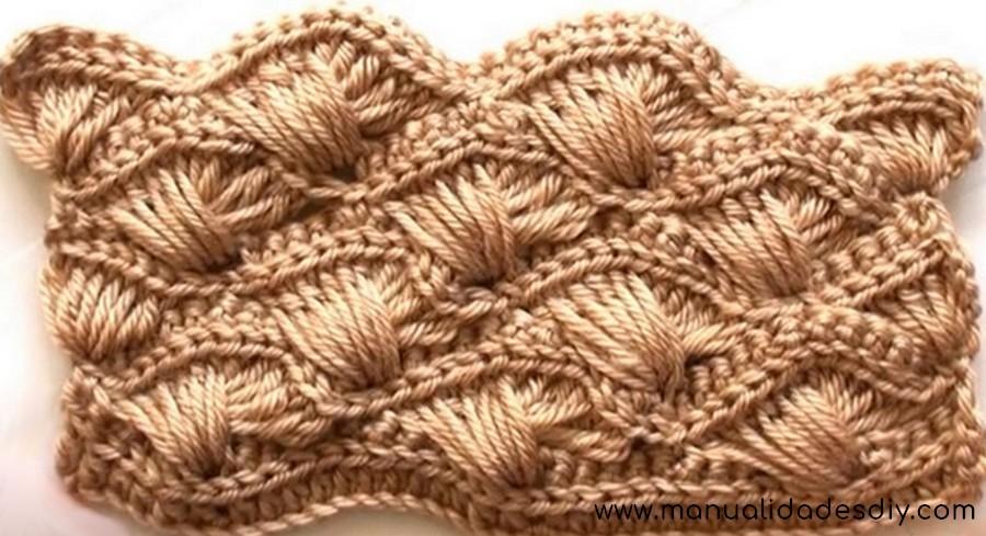 Bellisimo punto en crochet abanico cruzado videos - Punto de ganchillo para mantas ...