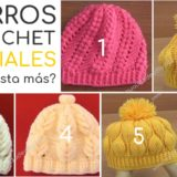 gorros crochet tutoriales