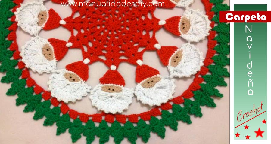 Carpeta Navideña Tejida con Papá Noel ⋆ Manualidades Y ...