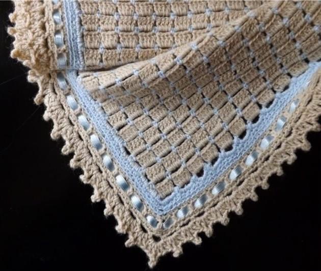 Colchas y Mantas Tejidas a Crochet para Bebe con Patrones ...
