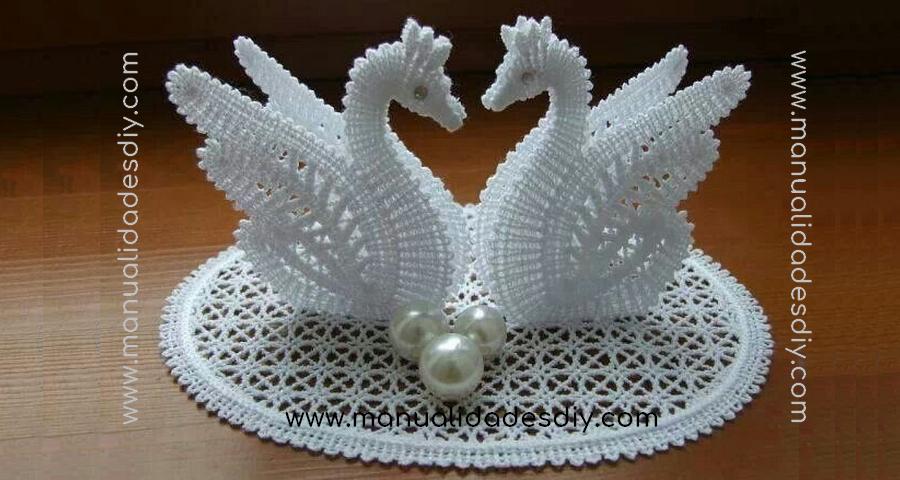 Maravillosos Cisnes Tejidos En Crochet Manualidades Y