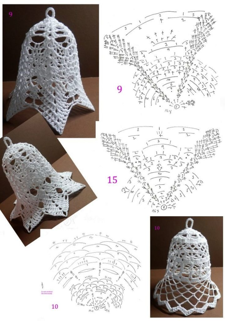 Patrones de Campanas Navideñas Tejidas a Crochet ⋆ Manualidades Y ...