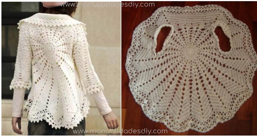 Patrones para tejer un chaleco circular a crochet - Manualidades Y ...