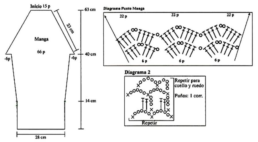 Patrones para tejer un chaleco circular a crochet ⋆ Manualidades Y ...
