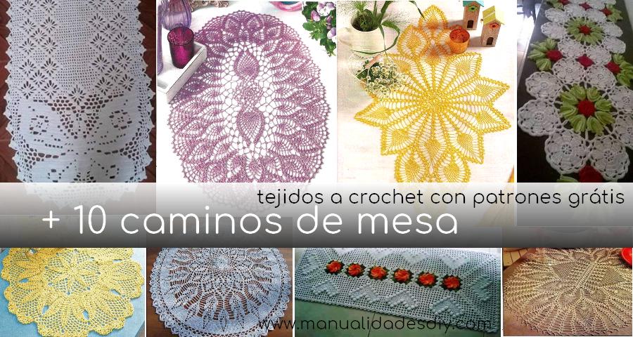 10 Caminos de mesa a crochet con patrones grátis - Manualidades Y ...