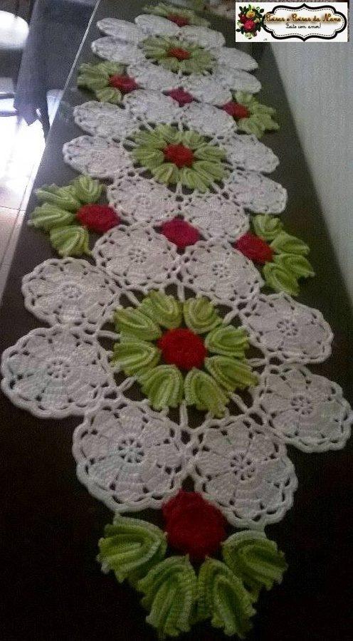 10 caminos de mesa a crochet con patrones gr tis for Caminos de mesa modernos